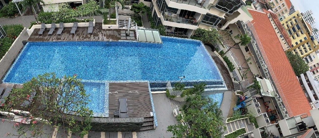 Spacious room with pool view & new mattress @Aljunied (all-inclusive); bright, quiet; no agent fee - Aljunied 阿裕尼 - 分租房間 - Homates 新加坡